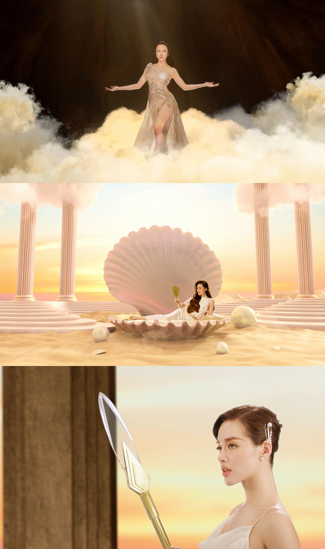 Hình ảnh 3 nữ thần LAMERCY đại diện cho Sự tự tin - Nhan sắc - Sức mạnh